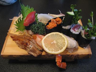 あん肝、かに、牡蠣の寿司